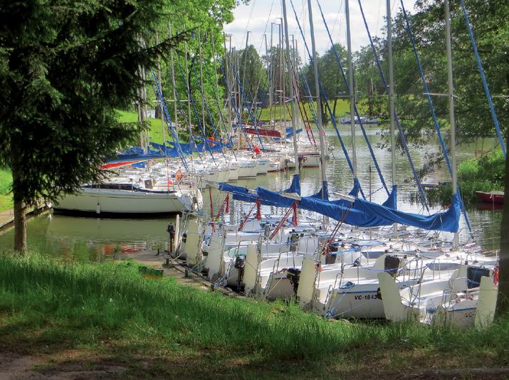 Mazury, port jachty